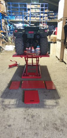 1500 lb Motorbike lift work platform HY1008a with extensions